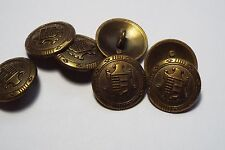8pc 25mm Bronze Heraldic Crested Metal Military Blazer Coat Cardigan Button 2839