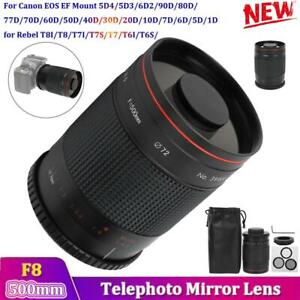500mm /F8 Telephoto Mirror Lens for Canon T8i/T8/T7i/T7s/T6 EF Mount SLR Cameras