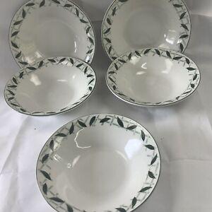 "Cades Creek Apple Stoneware Salad Or Soup Bowls Set of 5  WSP 7.5"" Wide."