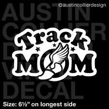 "6.5"" TRACK MOM vinyl decal car window laptop sticker - cross country cc team"