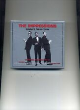 THE IMPRESSIONS - THE SINGLES COLLECTION - 2 CDS - NEW!!