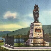 Lake George Battle Monument New York Vintage Postcard