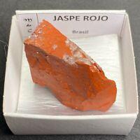 JASPE ROJO  Red Jasper - Brasil BRAZIL MINERAL COLECCION CAJA CAJITA 4x4cms P207