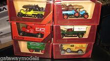 6 X MATCHBOX MODELS OF YESTERYEAR Y-26  Y-13 x 2  Y-22 Y-12 Y-3   BOXED RARE