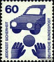 BRD 701A Ra mit Zählnummer gestempelt 1971 Unfallverhütung