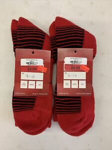 Set of 2 Under Armour Over the Calf Soccer Futbol Team Sock Red 2 Pair Lot L