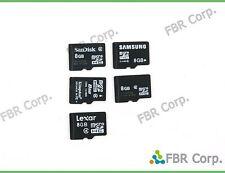 Sandisk Sony Kingston Samsung Lot 10 Micro SD 8GB MicroSD HC Flash Memory Card