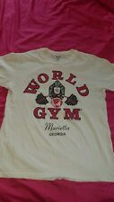world gym t shirt