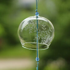 2 pcs JAPANESE Traditional Culture Glass Furin Wind Bell Chime white ice flower