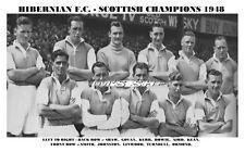 HIBERNIAN F.C. TEAM PRINT 1948 LEAGUE CHAMPIONS - HIBS