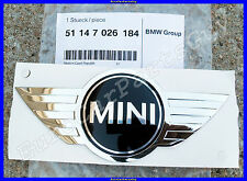 Genuine MINI Cooper r50 r52 Front Hood Emblem Wing Badge w/ Adhesive Backing NEW