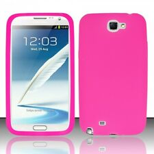 For Samsung Galaxy Note II 2 Rubber SILICONE Soft Skin Gel Case Cover