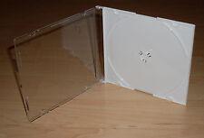 10 CD Hüllen durchsichtig weiss white Cases Hülle Maxi SLIM Slimcase 5mm Neu