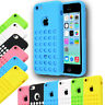 Colourful RETRO POLKA DOTS HOLE TPU Mate Silicone Case Cover For Apple iPhone 5C