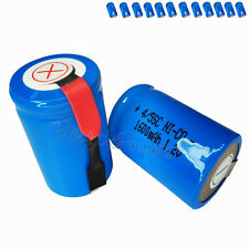 12x 1600mAh Ni-CD 4/5SC SubC Sub C 1.2V Rechargeable Battery with Tab univerisal