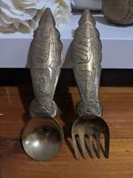 Decorative Metal Hanging Fork & Spoon Set 20ish cm Long