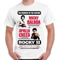 d803d8e15ceb Rocky 2 Balboa Apollo Creed Stallone Movie Poster 70s Mick's Retro T Shirt  224