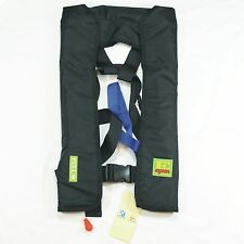 Automatic/Manuel Life Jacket Vest Auto Inflatable Survival Floatation - Black