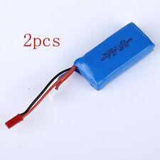 2pcs 7.4V 1200mAh Battery Fr WLtoys VA949 A959 A969 A979 K929 RC Car Quadcopter