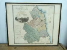Northumberland by C & J Greenwood 1831 a large map 68 x 83 cms framed