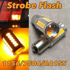 x4 1156 7506 7527 LED 19 SMD Yellow Tail Brake Light Replacement Light Bulb A73