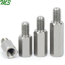 M3 Male-Female 304 Stainless Steel Hex Column Standoff Support Spacer PCB Board