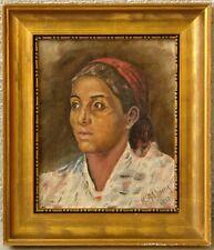 K. Aabrink » Porträt - junge Frau mit Kopftuch « 1943