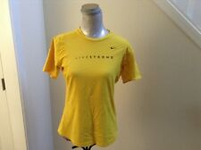 Nike Fit Dry Livestrong Men's Large Yellow T-Shirt Performance Tee