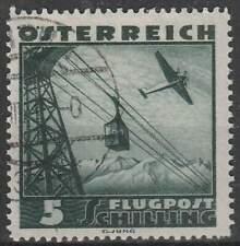 Oostenrijk gestempeld 1935 used 611 - Vliegtuig over Landschap