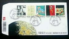 Belgium Tintin And The Moon 2004 Space Astronomy Cartoon Animation Comic (FDC)