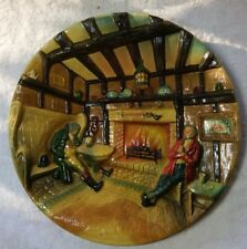 """Old English Cottage """"Eventide"""" 14""""  W H Bossons Plaque Authentic Rare"""