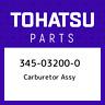 345-03200-0 Tohatsu Carburetor assy 345032000, New Genuine OEM Part