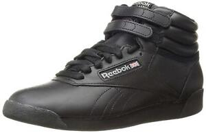 Reebok Women's Freestyle Hi Lace-Up Sneaker, Black, Size 8.5 AtDN