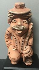 """South American Mexican Peruvian Clay Tribal Standing Man Figurine 8.5"""" Tall"""