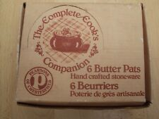 More details for pearson's of chesterfield butter pats vintage retro set of 6 new in box