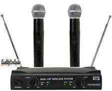 NEW Pyle PDWM2500 Professional Dual VHF Wireless Handheld Microphone System