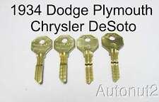 1934 Dodge Plymouth Chrysler DeSoto keys 4 key set new uncut