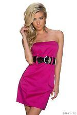 SALE! Sexy Cocktail-Kleid  Bandeau mit Gürtel Abend-Kleid Größe 36/38 Pink