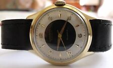 """VERY RARE""""JUNGHANS""""-TRILASTIC-GOLD PLATED- 20 mikrons-GERMANY WRIST WATCH MEN,S"""