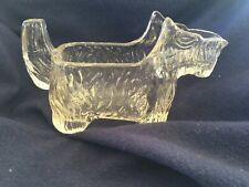 Vintage Clear Glass Scottie Dog Creamer/ Candy Container.