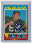 1971 PACKERS Gale Gillingham signed card AUTOGRAPHED AUTO Green Bay Topps