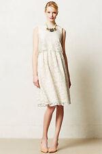 Anthropologie Magnolia Lace Dress, Ivory Bridal Wedding Gown ~ Size 2P Petite