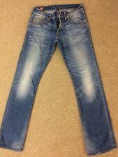 Mens True Religion Jeans 33 Waist 34 Leg Stretch Denim