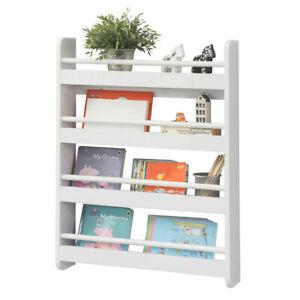 SoBuy®  Wall Mounted Children Bookcase Kids Display Shelving Rack ,KMB08-K-W,UK