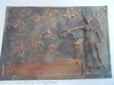 21613 Plakette Teuteburger- Waldrennen 6.Preis 1923 Medaille Hartblei 9x14cm