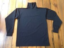 """The Force Black Polyester Athletic Workout Gym Turtleneck Shirt USA Made L 43"""""""