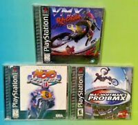 Moto Racer, VMX Racing, Pro BMX Hoffman-  Playstation 1 2 PS1 PS2 Rare Games Lot