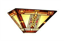 Chloe Lighting Ch33291ms12-ws1 Gode Mission 1 Light Wall Sconce  sc 1 st  eBay & Arts u0026 Crafts/Mission Style Glass Wall Sconce Wall Lighting Fixtures ...