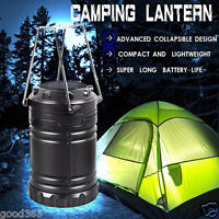 8 LED Portable USB Solar Rechargeable Lantern Outdoor Camping Hiking Lamp Light