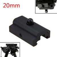 Bipod Sling Swivel Adapter Weaver Picatinny 20mm Rail Mount For Rifle Gun Black